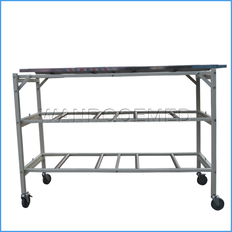 GA503-3 Funeral Removal Loading Foldable Heavy Duty Coffin Trolley