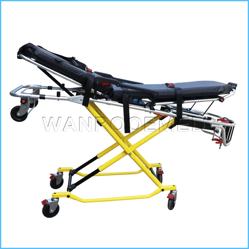 EA-3G Hospital Medical Equipment Folding Transport X-frame Stretcher For Patient