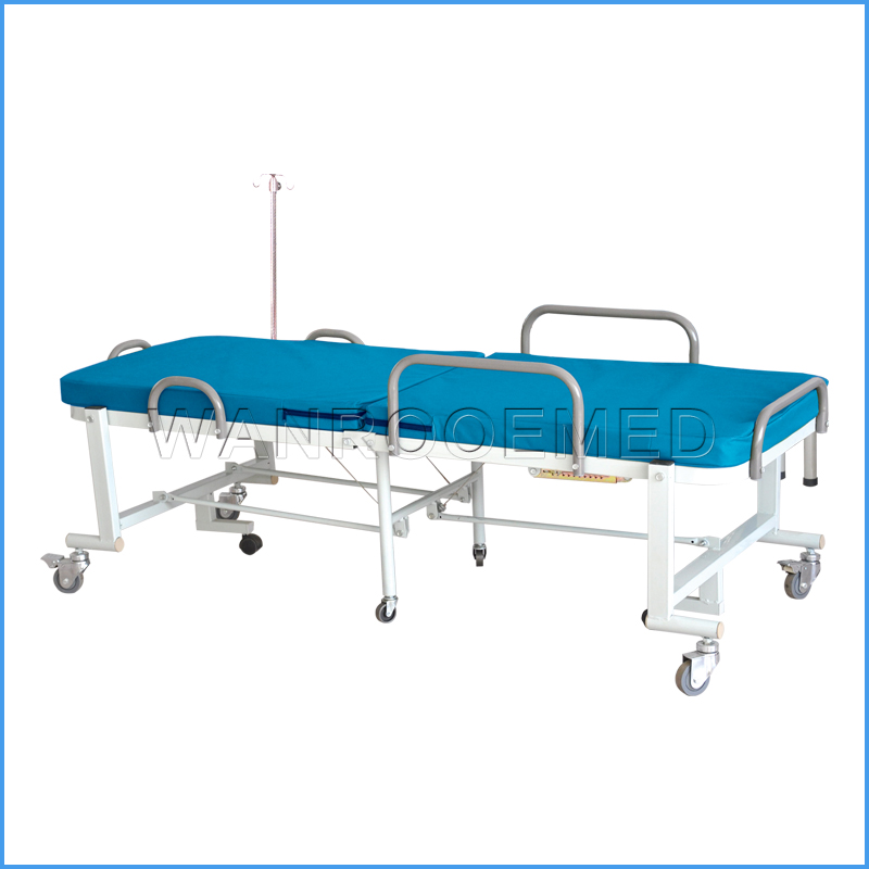 BAM002 Factory Price Patient Caring Manual Foldable Hospital Bed